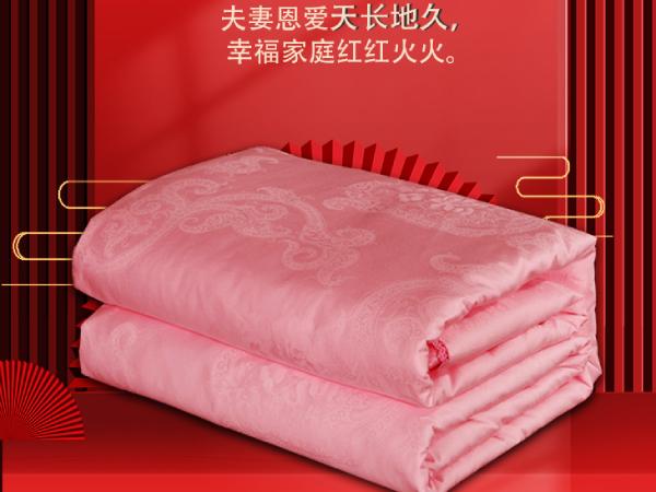 广东人结婚被子-象征着长久的品牌蚕丝被[常久]