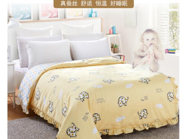 小孩可以睡桑蚕丝被吗-空调房贴身呵护
