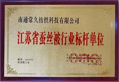 江苏省蚕丝被行业标杆单位
