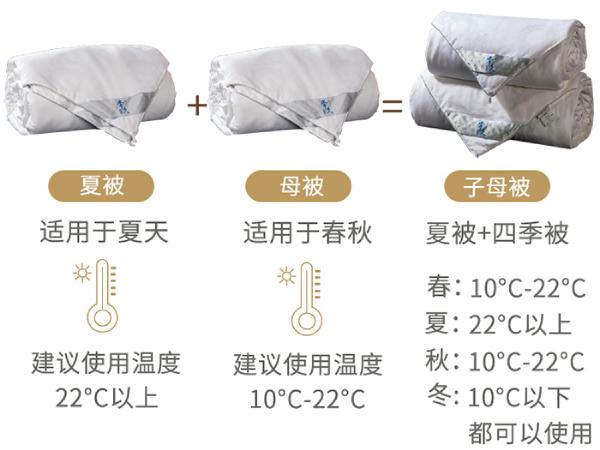 广州用几斤蚕丝被-这个重量的子母被比较实用